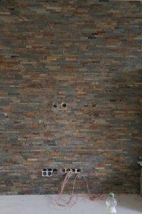 Wandgestaltung: fertige Wand